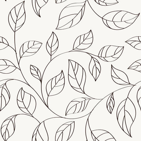 Pattern seamless with leaves