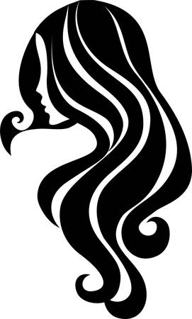 hair spa: Girl icon Illustration