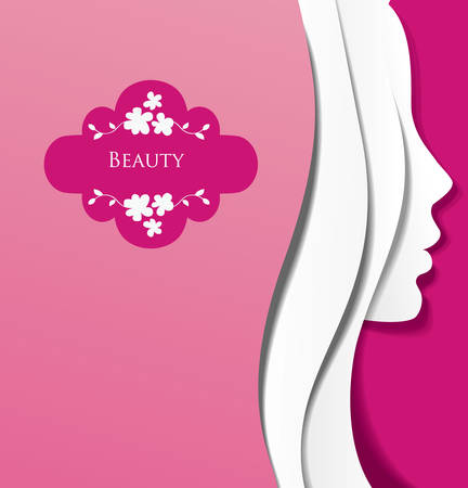 beauty salon face: Fashion background  Illustration
