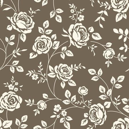バラのシームレスなパターン
