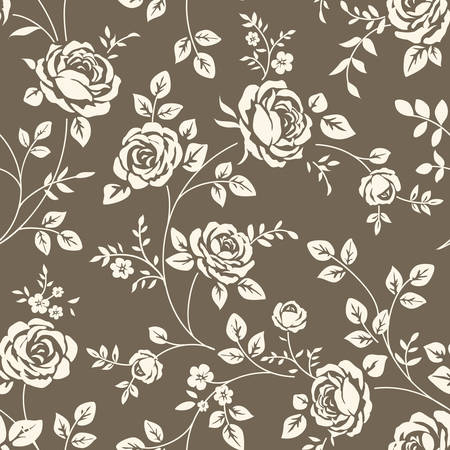 baroque wallpaper: Pattern with roses seamless Illustration
