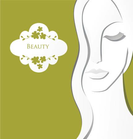 portadas: Chica concepto de spa de papel