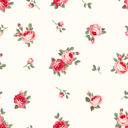 Wallpaper with roses Vector