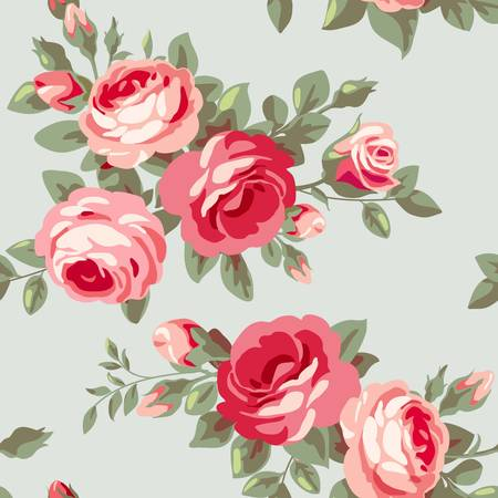 Behang met rozen