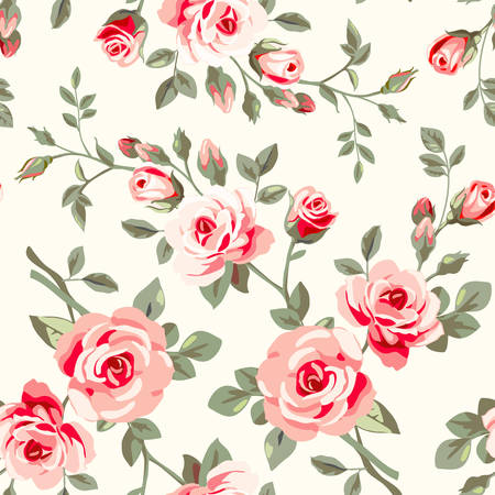 Pattern with roses Vector