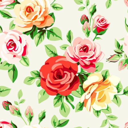 decoupage: Wallpaper with roses
