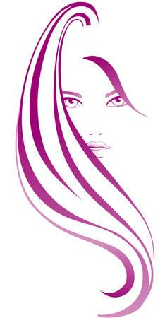 抽象的な女の子  イラスト・ベクター素材