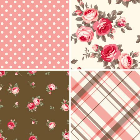 shabby chic: Set of patterns