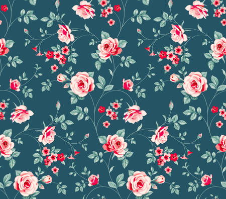 Pattern with roses