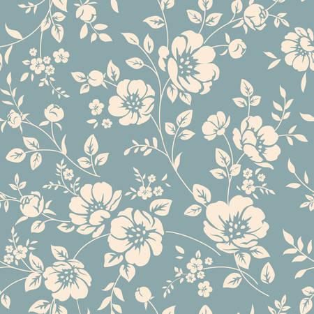 dibujos de flores: Patrón floral sin fisuras Vectores