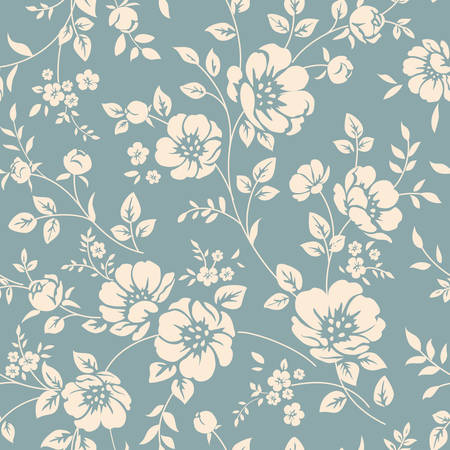 retro flower: Seamless floral pattern