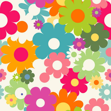 abstract seamless: Seamless pattern with flowers
