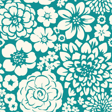 wildrose: Seamless pattern with flowers