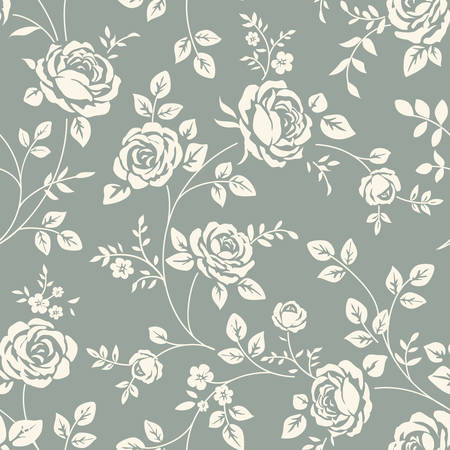 floral decoration: Seamless pattern with roses Illustration
