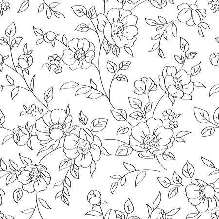 Nahtlose Muster mit Blumen