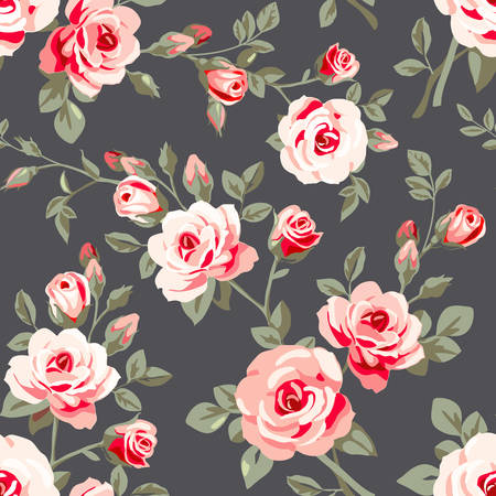 Nahtlose Muster mit Rosen Standard-Bild - 43939479