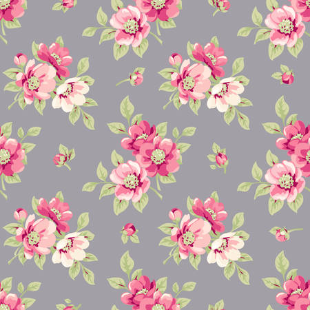 shabby: Seamless floral wallpaper