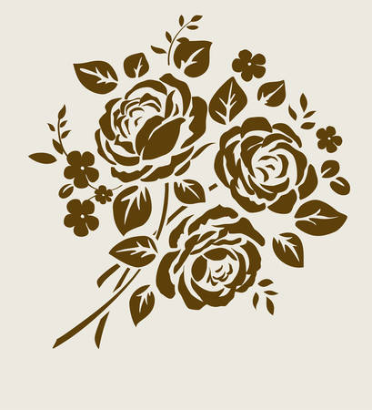 装飾的な花束