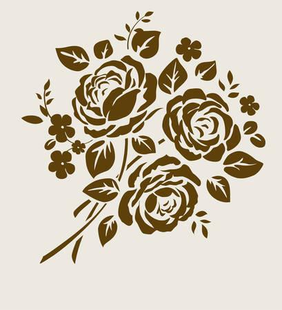 Decorative bouquet of flowers Vectores