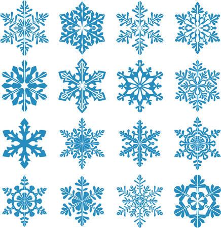set met sneeuwvlokken