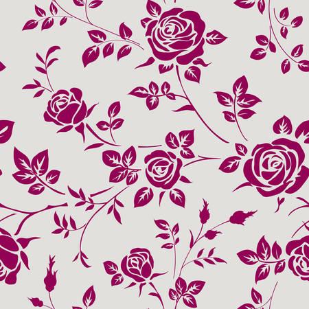 Naadloos patroon met rozen Vector Illustratie