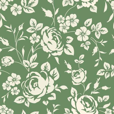 flower petals: Seamless pattern with flowers