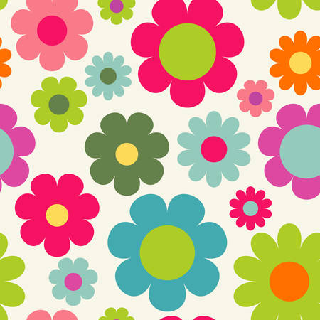 babyish: Seamless pattern with flowers. Cute floral wallpaper Illustration