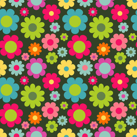 wallpaper floral: Seamless pattern with flowers. Cute floral wallpaper for your design