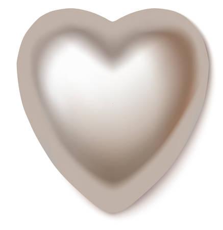 Perl heart isolated on white background. Vector illustration. Illustration