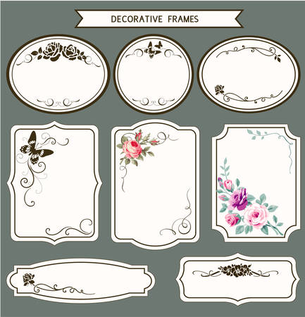 Decorative frames and tags for your design