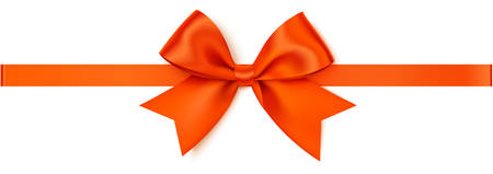 Decorative autumn bow for your design and page decoration