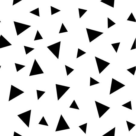 Vector seamless monochrome background with triangles. Memphis style