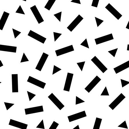 Vector seamless monochrome background with geometrical shapes