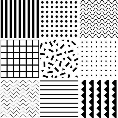 Black geometric shapes on white background. Vector illustration