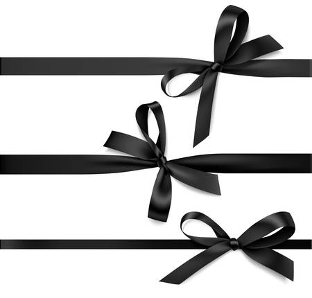 Vector collection of bows with ribbon for your design