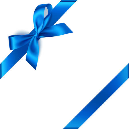 Blue bow for corner decoration.