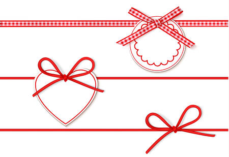 Collection of ribbons, bows and tags for your design