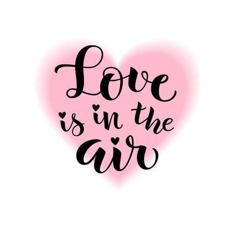 Love is in the air. Vector holiday decoration
