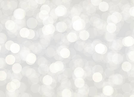 Abstract gray bokeh background vector holiday illustration.
