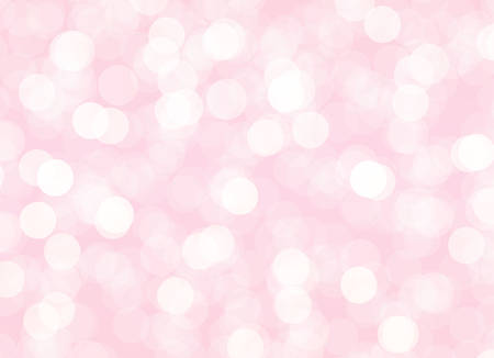 Abstract pink bokeh background with light circles. Vector holiday illustration for wedding or Mothers Day decoration