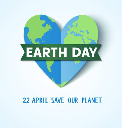 Earth Day.22 april. Save our planet Vector illustration