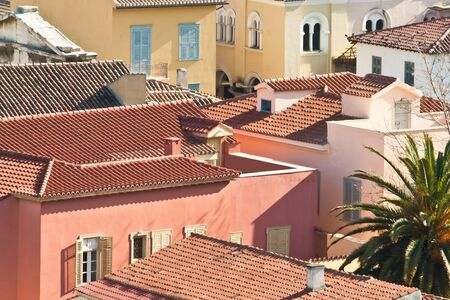 neoclassic: A neighborhood in the old sity of Athens known as plaka