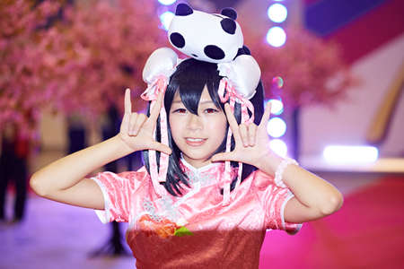 role play: Model at the 2015 DL Anime Carnival in Guangzhou, China Editorial