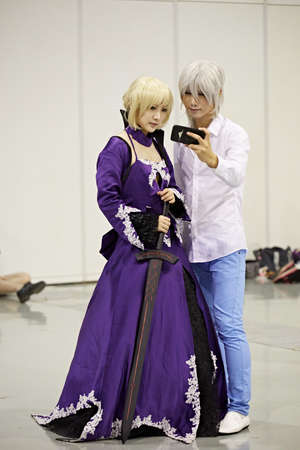 role play: Models at the 2015 DL Anime Carnival in Guangzhou, China