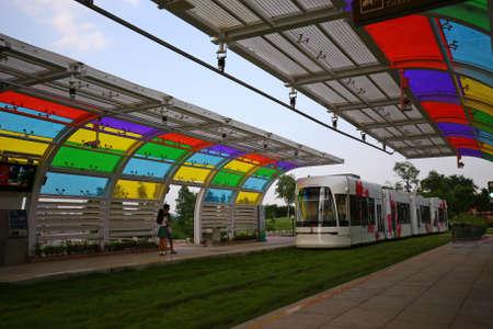 trams: Guangzhou trams Editorial