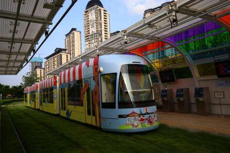 trams: Guangzhou cartoon trams