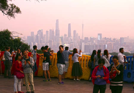 ascended: On October 20, 2015, the baiyunshan scenic spot, Guangzhou City, Guangdong Province, Festival of the people. Chinese ninth day of September each year is Chinas traditional festival, people have ascended the custom of blessing. Editorial