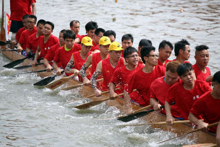 bateau de course: Dragon Boat Festival course Éditoriale