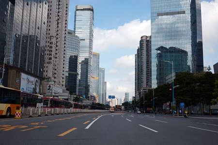 Urban district city view