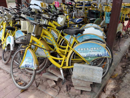 Public bike parking on the street